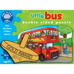Puzzle fata/ verso - Autobuz (12 piese) - Orchard Toys (301)