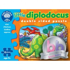 Puzzle fata/ verso - Diplodocus (12 piese) - Orchard Toys (302)