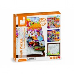 Set puzzle 3 in 1 - La balci - Janod (J02826)